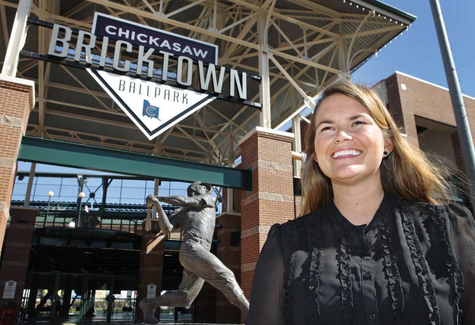 Photo - Mallory O'Neill marked her first day as the Bricktown Association's first