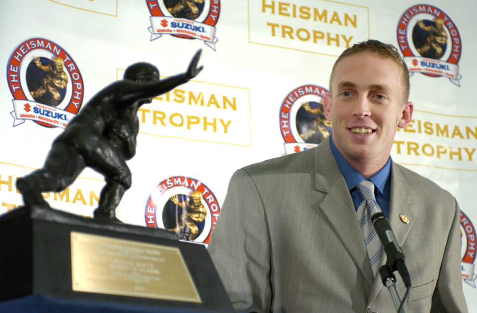 Photo -  Jason White won the Heisman Trophy in 2003. [PHOTO BY BRYAN TERRY, OKLAHOMAN ARCHIVES]
