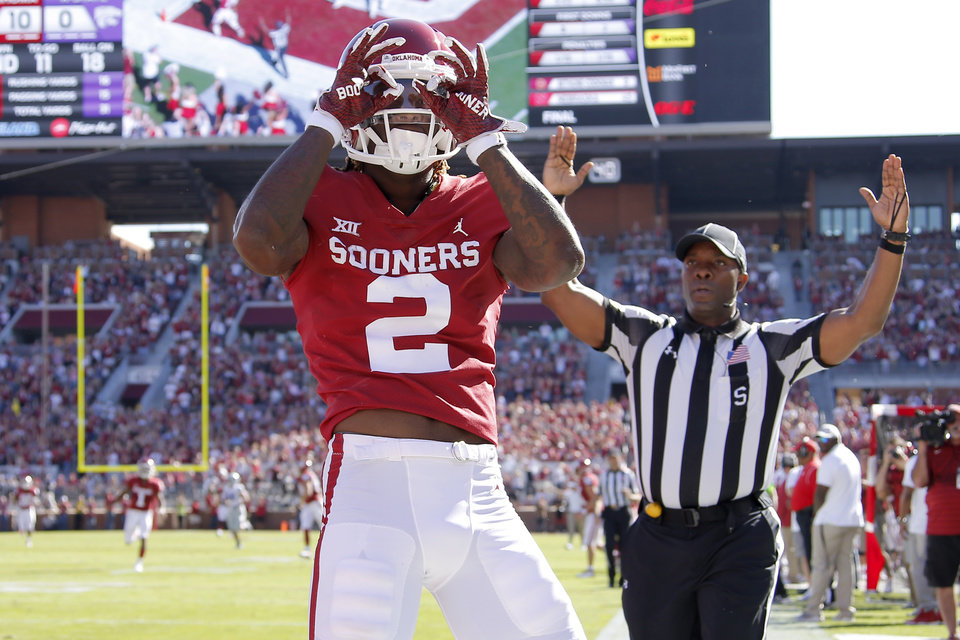 Photo -  The Sooners might want to think about tacking on some style points if they win the Big 12 Championship vs. Texas on Saturday. The College Football Playoff committee will be watching and might be looking for justification for putting Ceedee Lamb and the Sooners in the bracket. [PHOTO BY BRYAN TERRY, The Oklahoman]