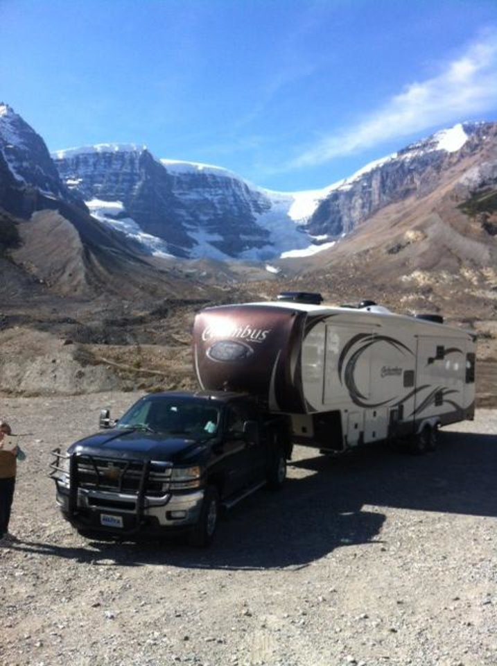 A fifth wheel camper makes the drive to and through Alaska a lot more comfortable. There are commercial campgrounds on the Alaska Highway but there also is plenty of room just for