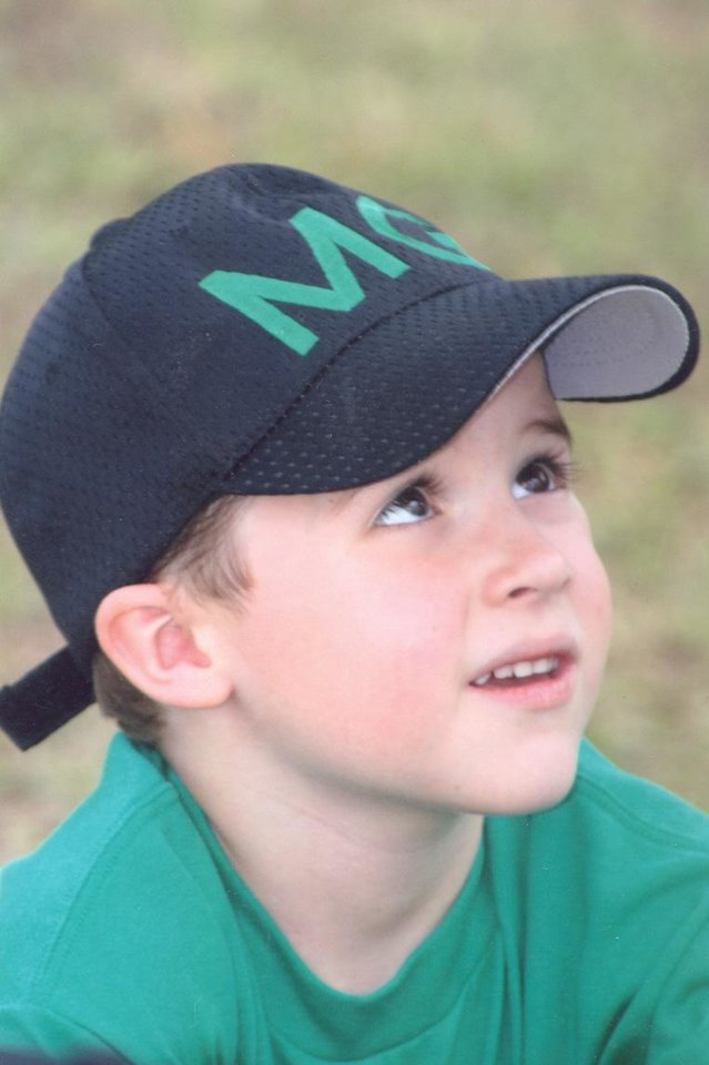 Photo - ACCIDENT, ACCIDENTAL SHOOTING DEATH: Austin Haley, 5, of Noble was shot and killed by a stray bullet fired by police who were trying to kill a snake. PHOTO PROVIDED BY WILSON-LITTLE FUNERAL HOME, PURCELL ORG XMIT: 0708062155523013