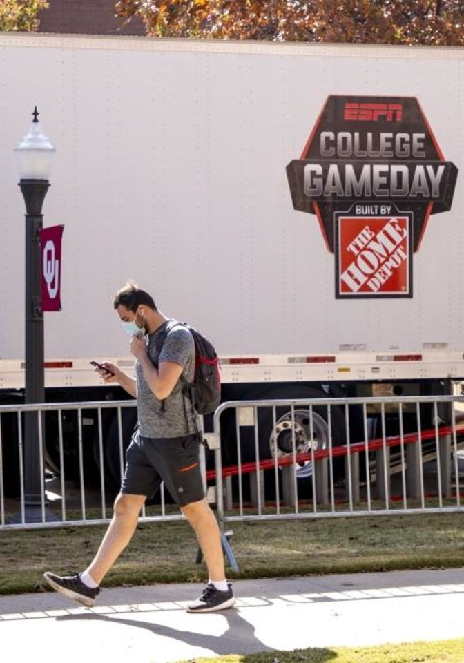Photo -  A student walks past the ESPN