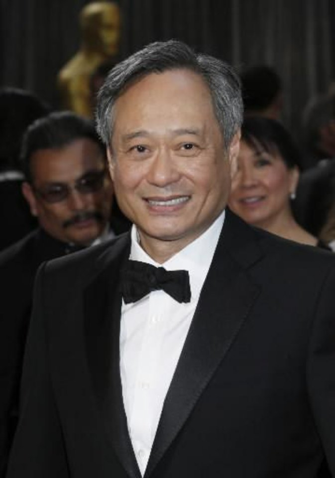 Ang Lee arrives at the Oscars. (AP)