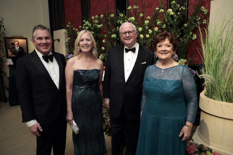 Photo - Clifford and Connell Branan and Bob and Karen Brown attend the Winter Ball at the Oklahoma City Golf & Country Club on Jan. 25, 2020 in Oklahoma City, Okla.  [Steve Sisney/For The Oklahoman]