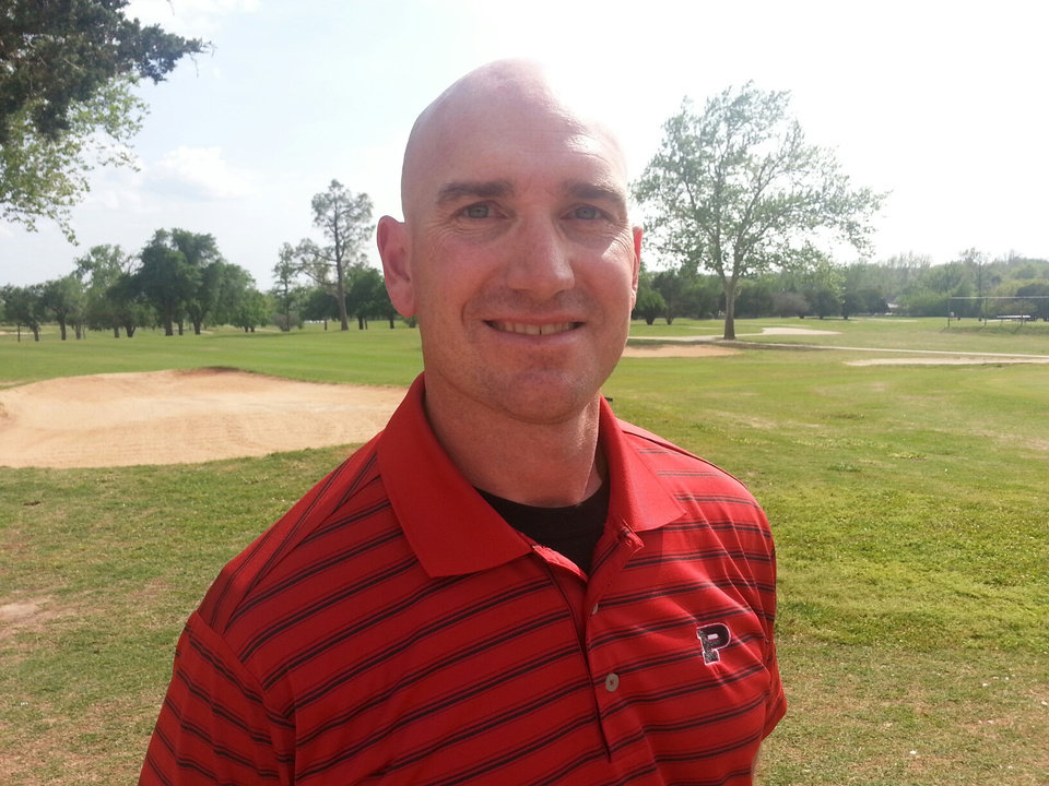 Photo - Andy Bloodworth, Plainview girls golf coach. Photo by Ed Godfrey, The Oklahoman