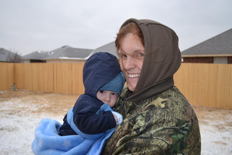 Jennifer Maly holds her infant son, Hunter Maly. Photo provided by Jason Maly. <strong></strong>