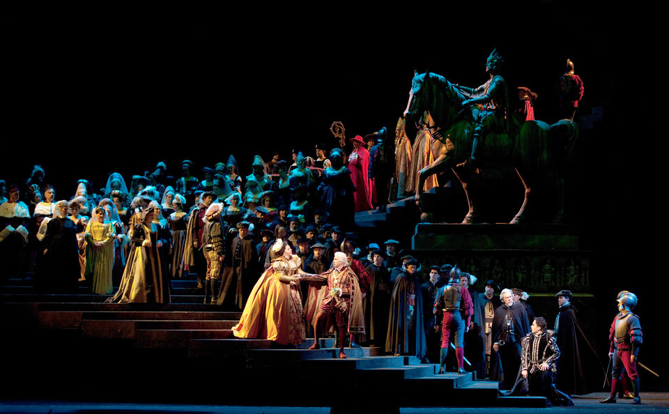 Photo -   This Jan. 26, 2012, photo provided by the Metropolitan Opera shows a scene from Verdi's