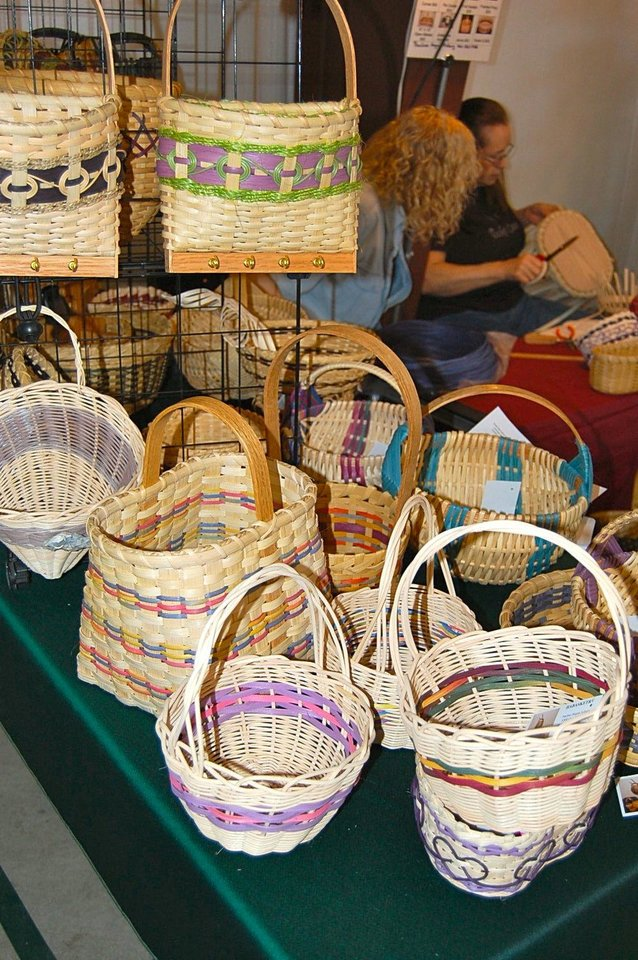 Photo - Baskets by Pauline Asbury. Photo by Annette Price, for The Oklahoman.