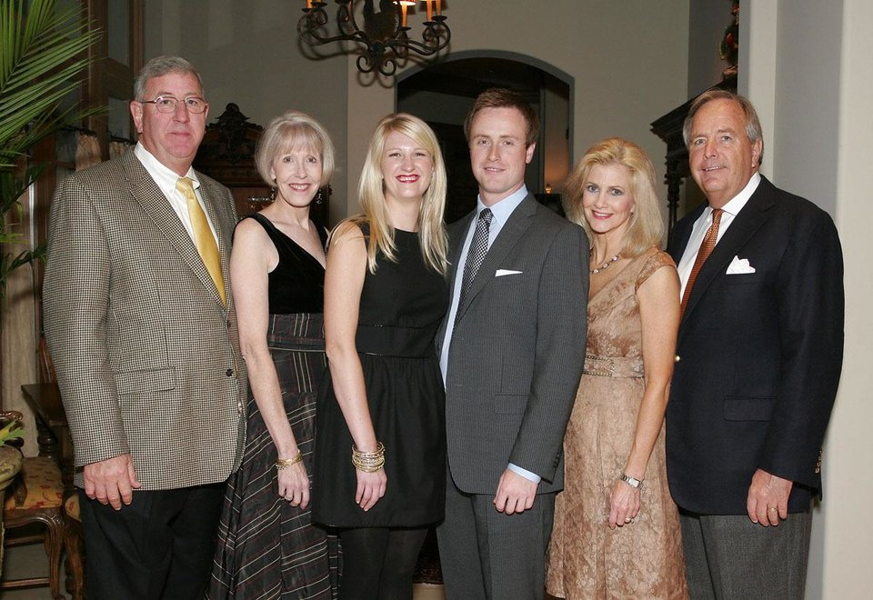 Donald and Sally Harris, Courtney Wells, James Dunavant and Beth and Ed Wells. - PHOTO BY DAVID FAYTINGER, FOR THE OKLAHOMAN ORG XMIT: 0811131807154350