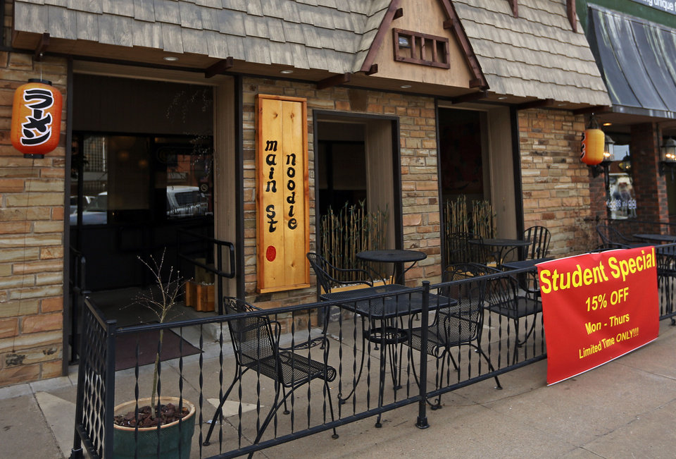 The exterior of Main Street Noodle, 622 S Main St., in Stillwater. <strong>NATE BILLINGS - NATE BILLINGS</strong>