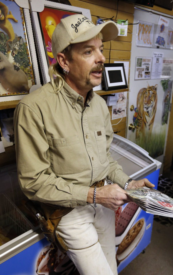 Photo - Joe Schreibvogel talks about his future at G.W. Exotic Animal Park on Thursday, Feb. 28, 2013 in Wynnewood, Okla.  Photo by Steve Sisney, The Oklahoman