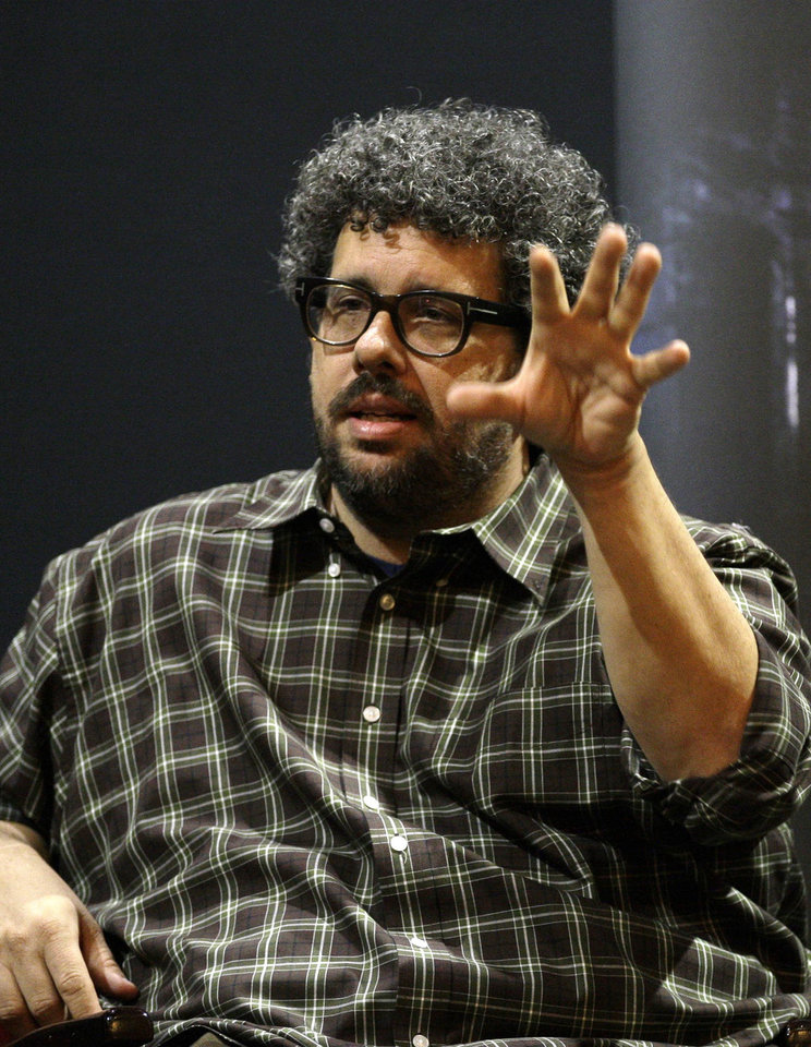 FILE - This Nov. 22, 2010 file photo shows U.S. director, screenwriter and playwright, Neil LaBute speaking at the Vaudeville theatre in London. LaBute\'s 10-minute, two person play