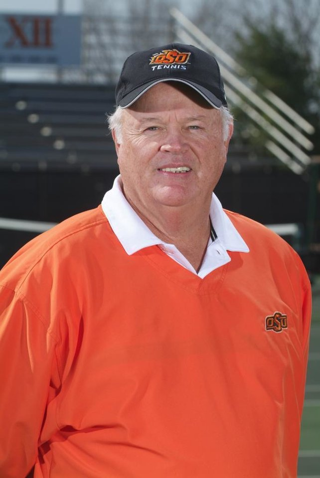 Photo - OKLAHOMA STATE UNIVERSITY COLLEGE TENNIS: James Wadley, OSU men's tennis coach ORG XMIT: 0711262159242800