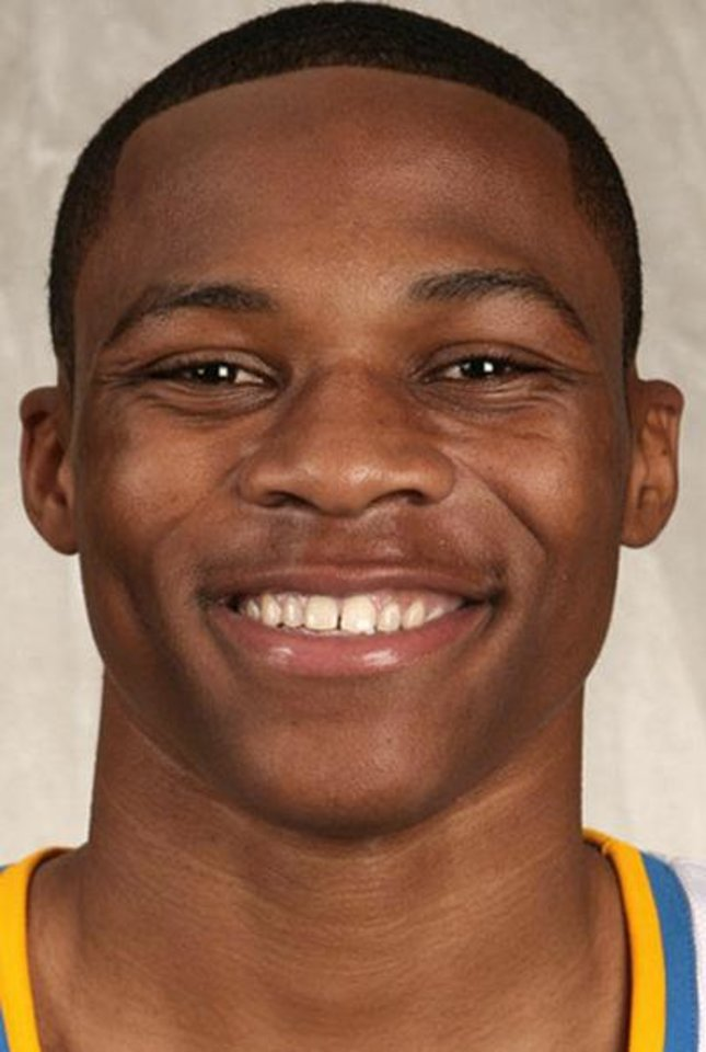 Photo - ** FILE  **     NBA BASKETBALL DRAFT, UNIVERSITY OF CALIFORNIA, LOS ANGELES:  Top basketball prospect for the 2008 NBA Draft. Cropped mug of  Russell Westbrook, UCLA;  (AP Photo/File) ** MAGS OUT. NO SALES, EDITORIAL USE ONLY ** ORG XMIT: NY285 ORG XMIT: OKC0806260820498572
