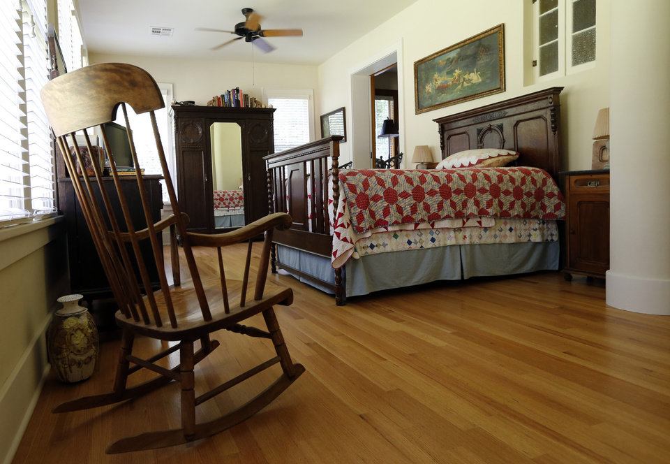 Photo -  This view shows Michael Brinkley and Lynda Donley's master bedroom in their home at 639 S Lahoma in Norman. PHOTO BY STEVE SISNEY, THE OKLAHOMAN   STEVE SISNEY -  THE OKLAHOMAN