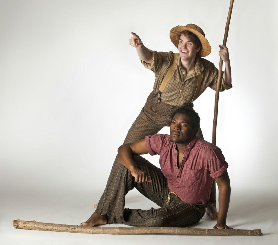 Photo - Alex J. Enterline as Huck Finn and Isaiah Bailey as Jim in