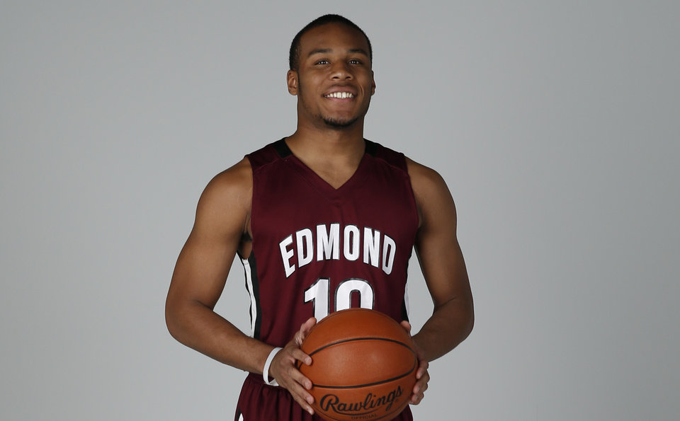 Photo - Jordan Woodard, Edmond Memorial. PHOTO BY BRYAN TERRY, THE OKLAHOMAN