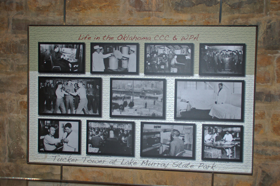 Photo - A photographic display at Tucker Tower depicts the life of a Civilian Conservator Corps recruit.   Photo provided    Photo provided