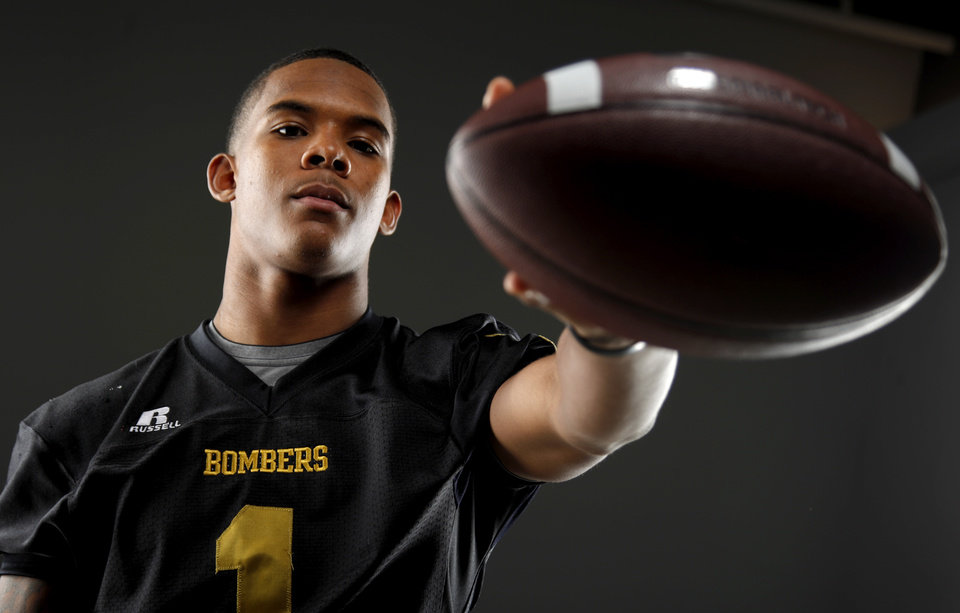All-State football player Ricky Reeves, of Midwest City, poses for a photo in Oklahoma CIty, Wednesday, Dec. 14, 2011. Photo by Bryan Terry, The Oklahoman