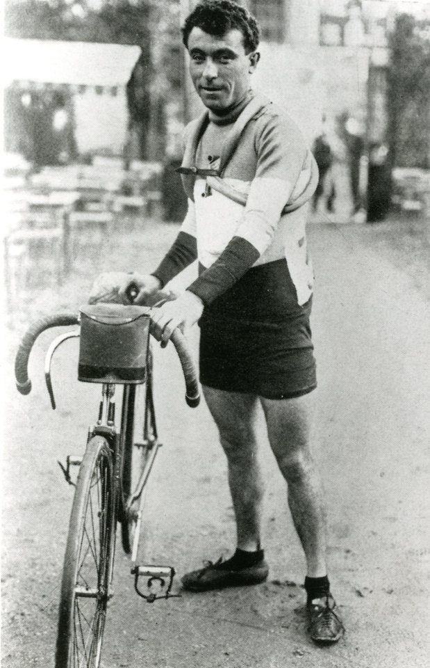 Photo - In this undated photo provided by the WielerMuseum Roeselare, French cyclist and 1910 Tour de France winner Octave Lapize stands with his bike. Three former winners of the Tour de France; Octave Lapize, Francois Faber and Lucien Petit-Breton all died fighting in World War I. (AP Photo/Wielermuseum)