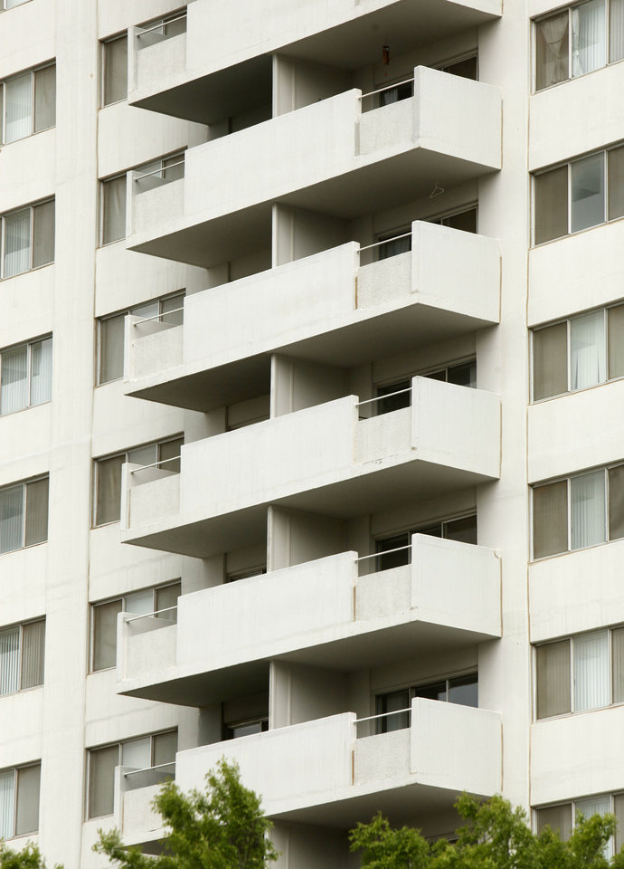 Photo - The balconies shown here are on the Regency Tower apartment building in  downtown Oklahoma City.
