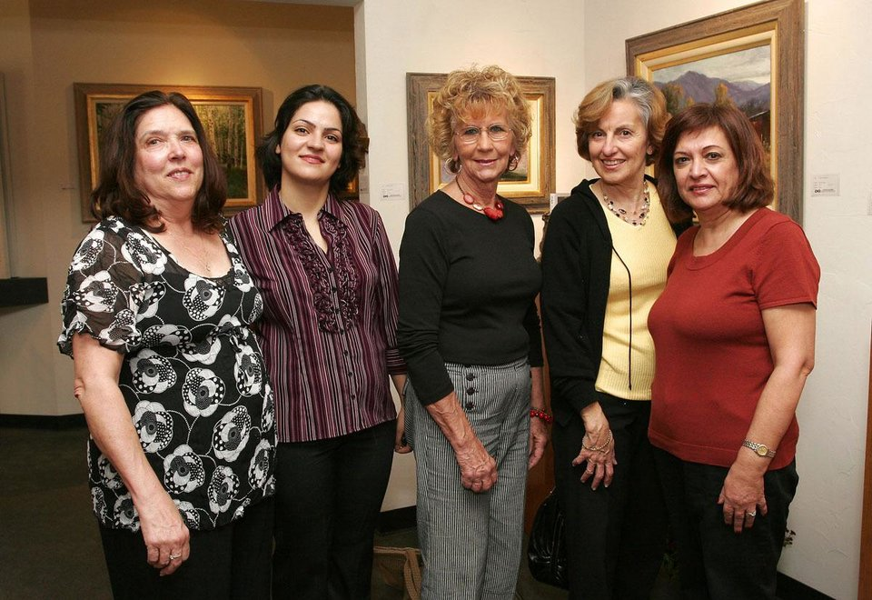 Marilyn Morton, Teboo Akbary, Ellen Price, Sheila Fraguela, Sherry Mollaian.  - Photo by David Faytinger, For The Oklahoman