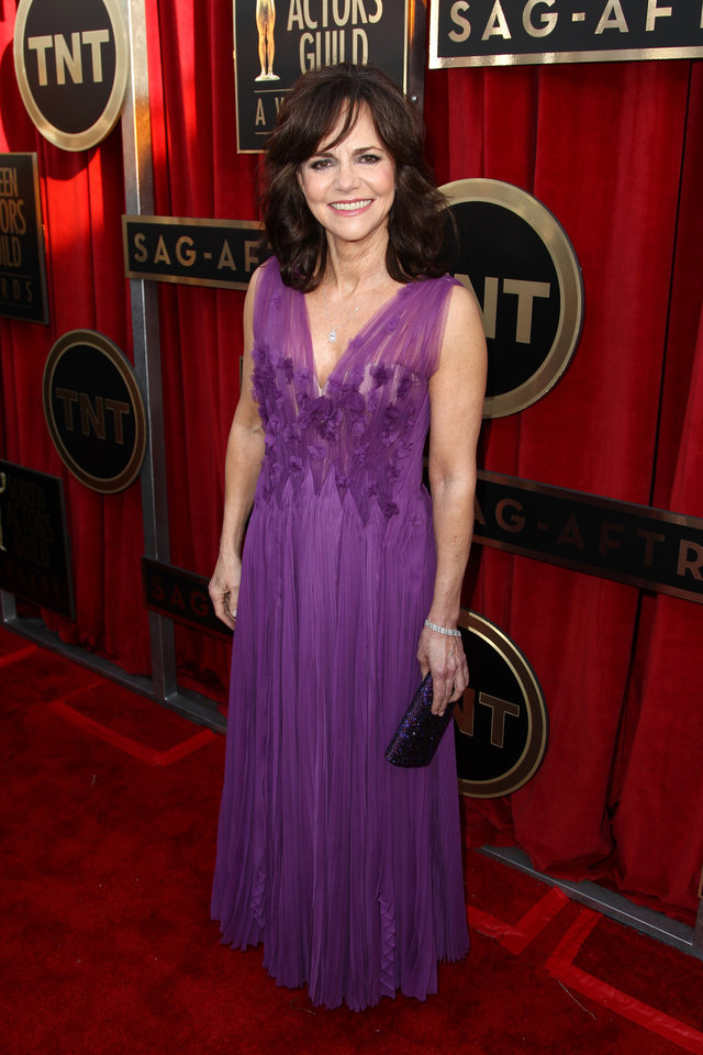 Photo - Actress Sally Field arrives at the 19th Annual Screen Actors Guild Awards at the Shrine Auditorium in Los Angeles on Sunday, Jan. 27, 2013. (Photo by Matt Sayles/Invision/AP)