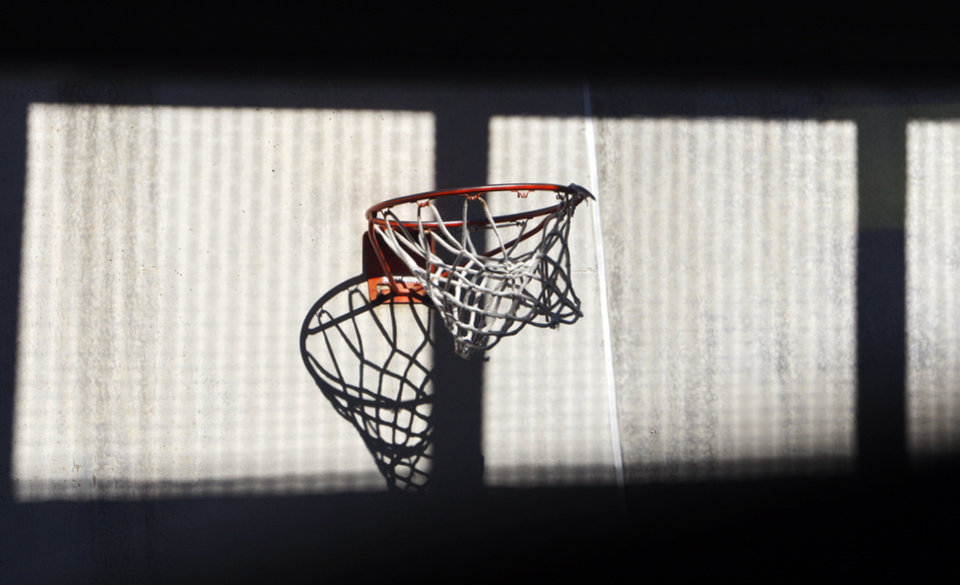 A basketball goal in the recreation area for death row on H Unit at the Oklahoma State Penitentiary in McAlester, Okla., Wednesday, Dec. 7, 2011. Photo by Nate Billings, The Oklahoman