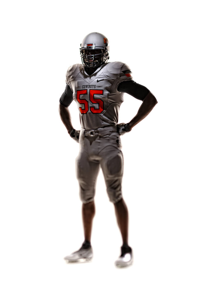 An all silver version of OSU\'s new uniforms. PHOTO PROVIDED