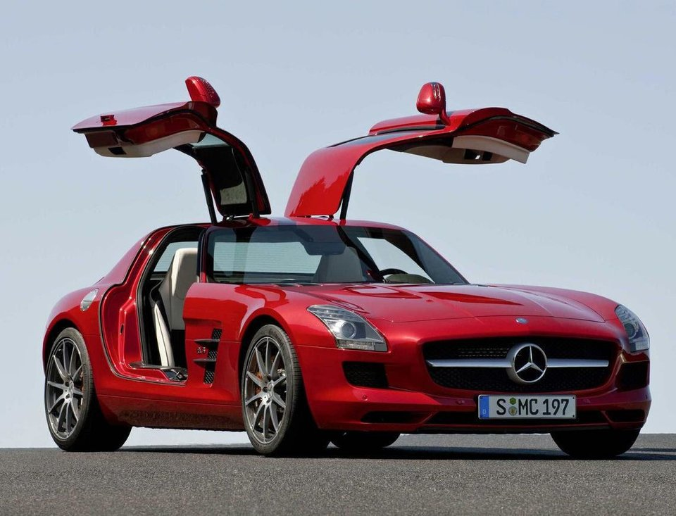Photo - A Mercedes-Benz SLS AMG Gullwing will be on display at this year's Oklahoma City International Auto Show.