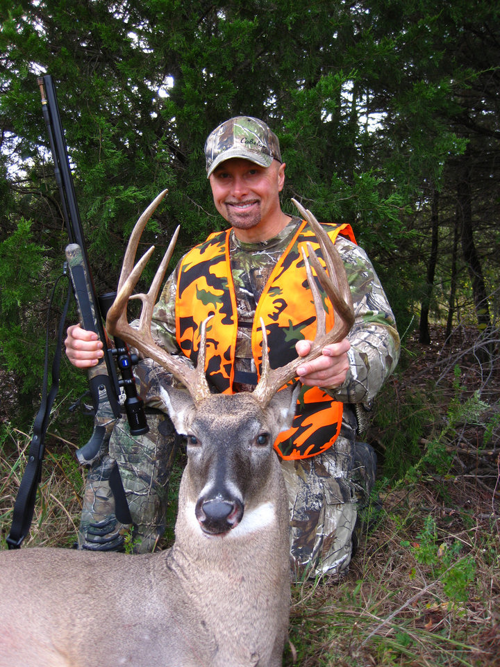Photo - Kevin Shutt of Midwest City took this 11-point buck near Eufaula during the deer muzzleloader season that ended last Sunday. Photo provided