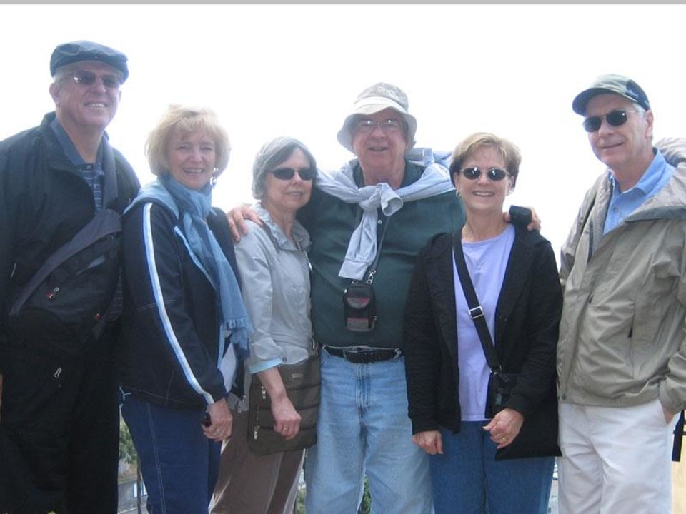 Photo -  Six happy travelers, from the U.S. to Italy and back.