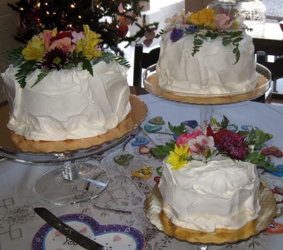FRIENDS CELEBRATE JANUARY....Close up view of the cakes. (Photo by  Helen Ford Wallace).