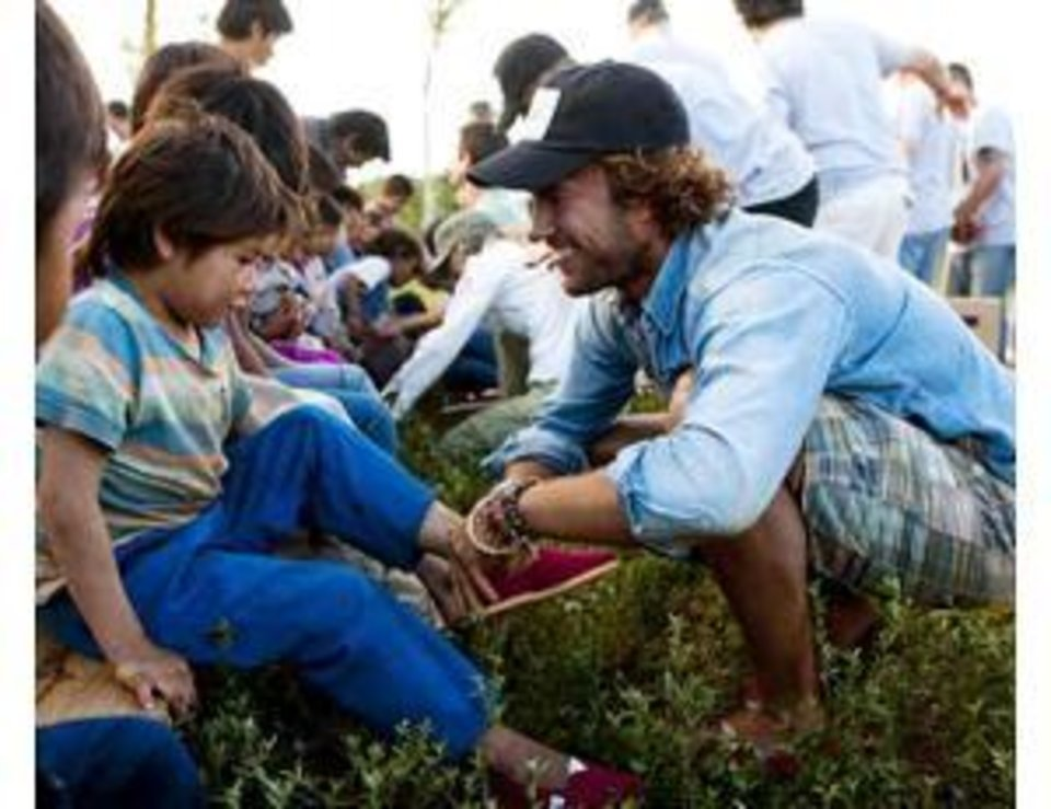Blake Mycoskie, founder of TOMS.