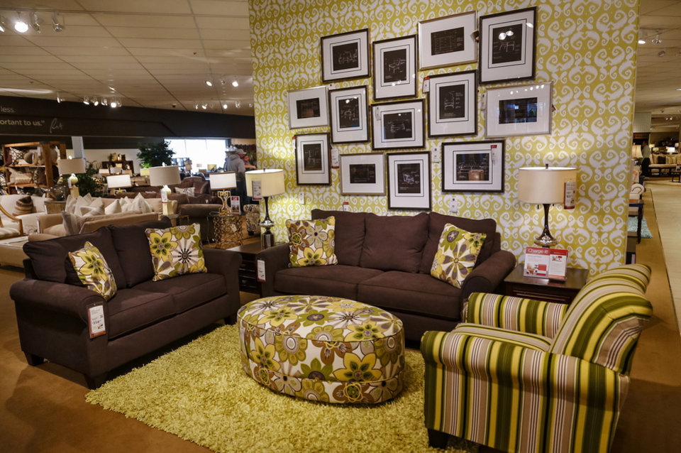 Photo - The showroom at Mathis Brothers Furniture on Friday, Nov. 8, 2013, in Oklahoma City, Okla. The furniture store is going to build a $16 million distribution center. Photo by Chris Landsberger, The Oklahoman