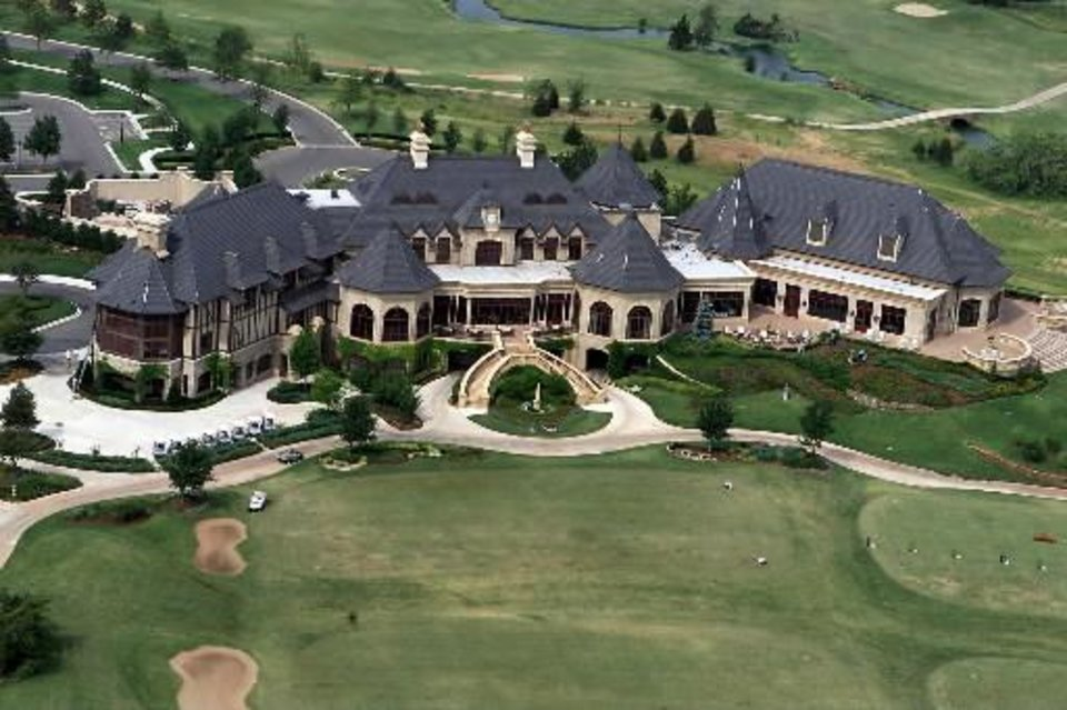 File photo - Aerial view of Gaillardia clubhouse and golf course. Staff photo by Doug Hoke/KWTV NEWS9