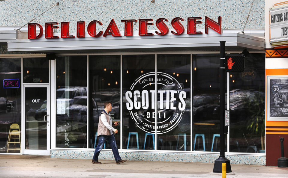 Photo -  Scottie's Deli in Oklahoma City's Uptown 23rd district. [Photo by Jim Beckel, The Oklahoman]