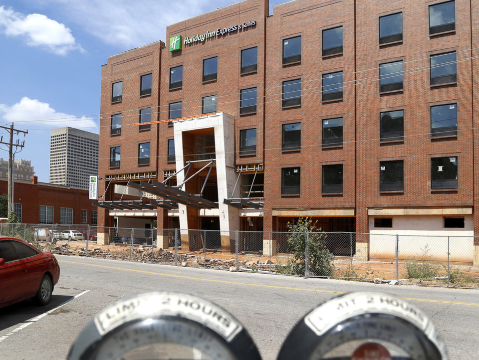Photo -  The new Holiday Inn Express, 101 E Main Street, is the only new hotel in Bricktown built with an all-brick facade.     Jim Beckel -  THE OKLAHOMAN