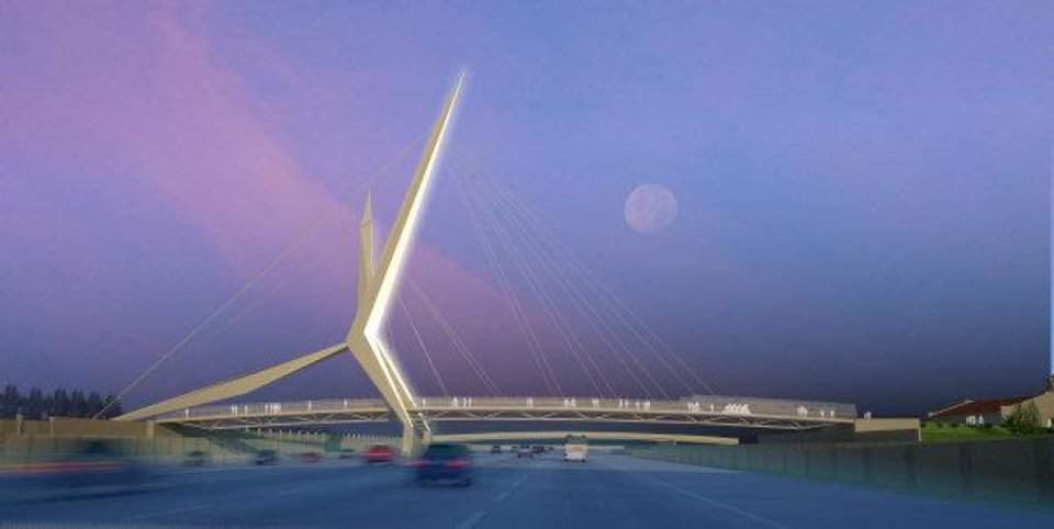 This artist's drawing shows what the Skydance Bridge will look like. Drawing Provided