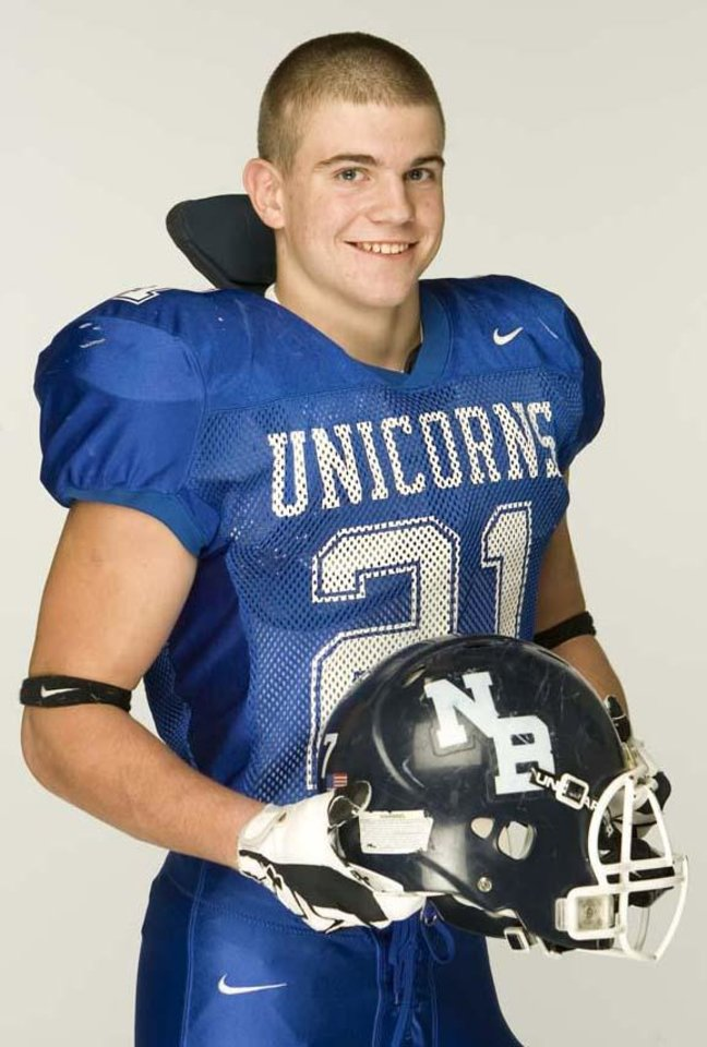 Photo - All-Area sub-5A superlative football player of the year Tom Wort photographed Wednesday night Dec. 12, 2007 in the Express-News photo studio.