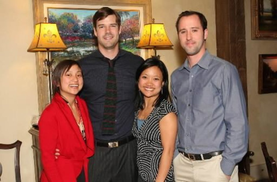 Left: Denise Duong, Matt Seikel, Tina Duong, Beau Brand. PHOTO BY DAVID FAYTINGER, FOR THE OKLAHOMAN
