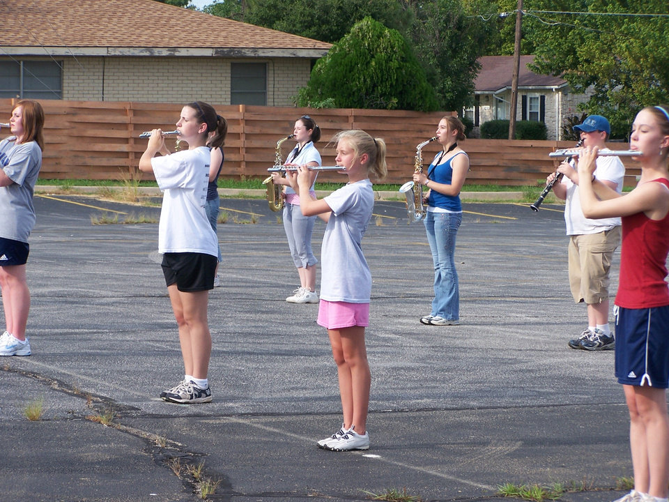 Harrah Panther Marching Band in Practice.<br/><b>Community Photo By:</b> Bessie Jackson<br/><b>Submitted By:</b> Audrey, Harrah