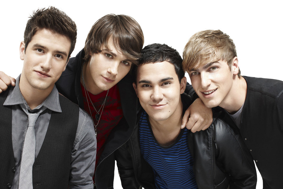Pictured: (l-r) Logan (Logan Henderson), James (JamesMaslow), Carlos (Carlos Pena) and Kendall (Kendall Schmidt) in BIG TIME RUSH on Nickelodeon.  Photo: Ben Watts/Nickelodeon. �©2010 Viacom, International, Inc.  All Rights Reserved