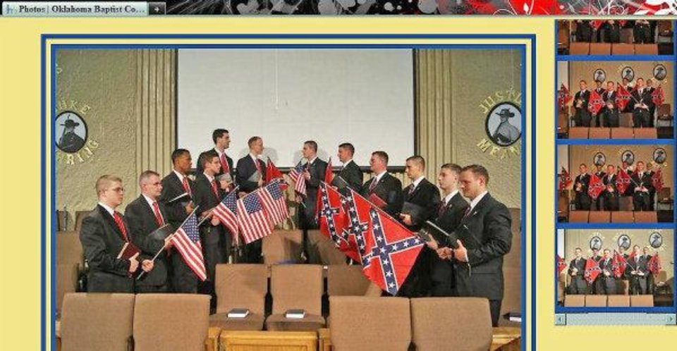 Screen capture of photos on the Oklahoma Baptist College website. The pictures were taken during the North-South School of the Prophets event in 2010. ORG XMIT: KOD