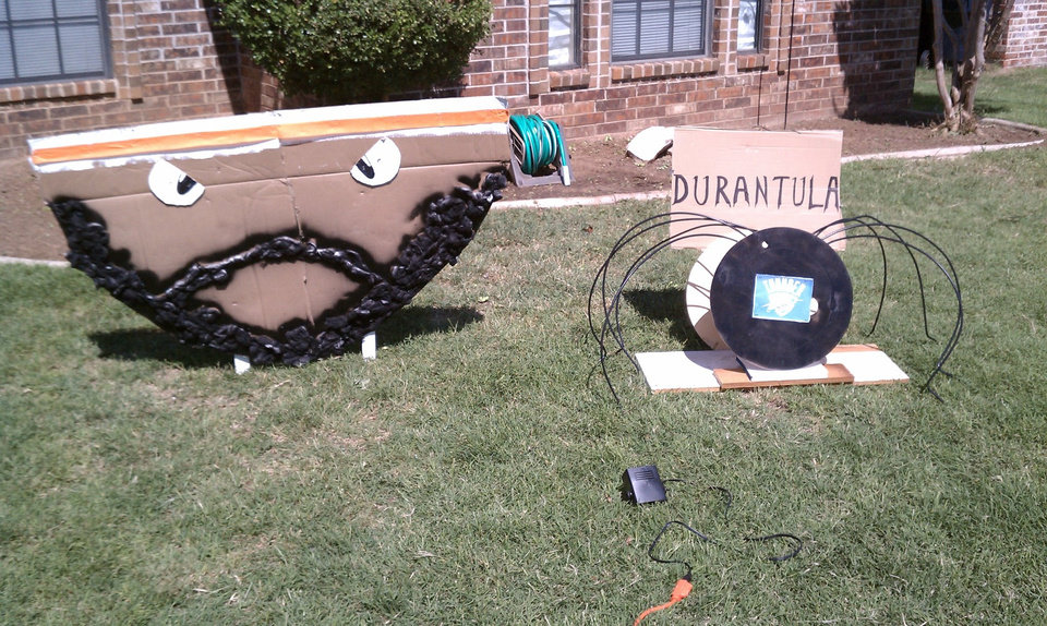 A front yard in Oklahoma.