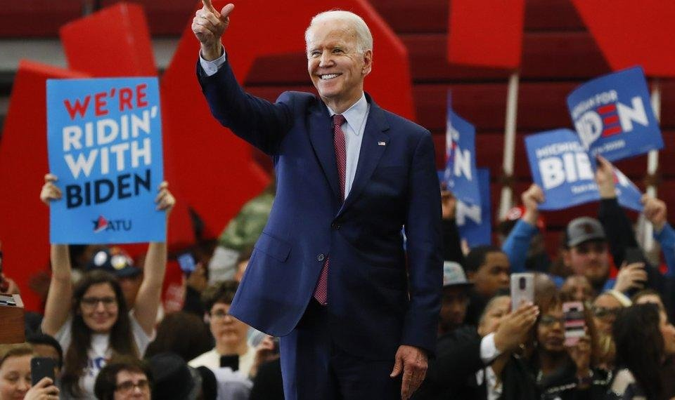 Photo - Democratic presidential candidate former Vice President Joe Biden speaks during a campaign rally at Renaissance High School in Detroit, Monday, March 9, 2020. (AP Photo/Paul Sancya)