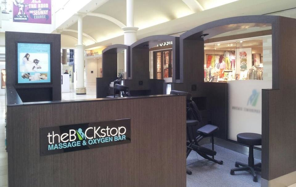 Oklahoma\'s best kept secret in Penn Square Mall: theBACKstop Massage & Oxygen Bar