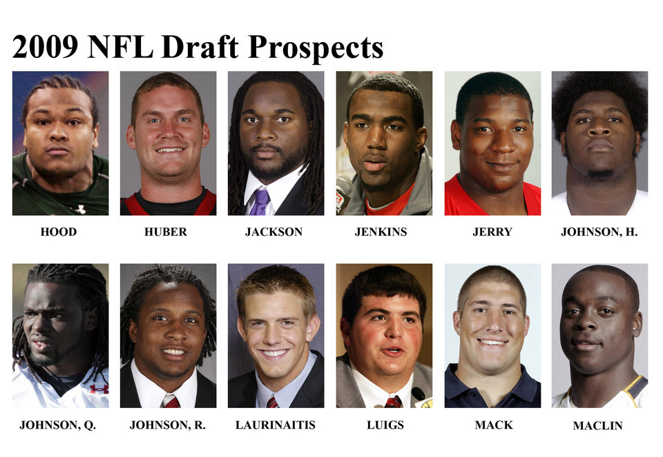 Photo - ZIGGY HOOD:  ** FOR USE AS DESIRED WITH NFL DRAFT STORIES ** FILE -  In these university handouts and  file photos top college football prospects for the 2009 NFL Draft are shown. They are: Evander Hood, Kevin Huber, Tyson Jackson, Malcolm Jenkins, Peria Jerry, Herman Johnson, Quinn Johnson, Rashard Johnson, James Laurinaitis, Jonathan Luigs, Alex Mack and Jeremy Maclin.  (AP Photo) ** MAGS OUT. NO SALES, EDITORIAL USE ONLY ** ORG XMIT: NY156