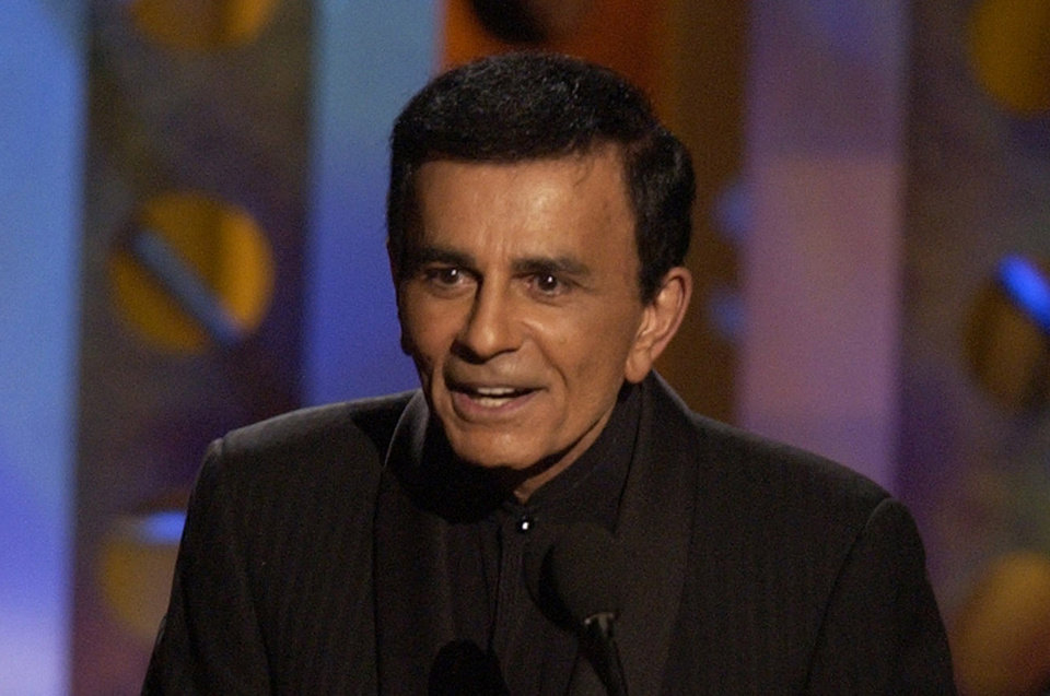 Photo - FILE - Casey Kasem accepts a radio icon award  during the Radio Music Awards Monday, in this Oct. 27, 2003 file photo taken at the Aladdin Hotel in Las Vegas. Santa Monica Police Department Sgt. Mario Toti said Kasem was located a few hours after his children filed a missing person's report on Wednesday May 14, 2014.  Kasem, 82, suffers from advanced Parkinson's disease, can no longer speak and has been in various medical facilities chosen by his wife, Jean Kasem. (AP Photo/Joe Cavaretta, File)