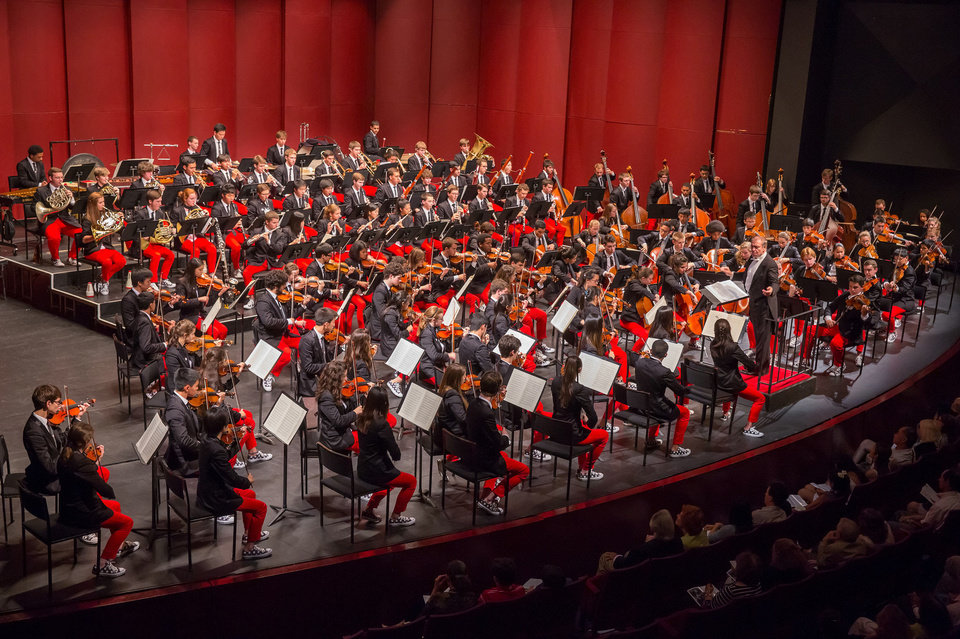 Photo - Valery Gergiev conducts the inaugural concert of National Youth Orchestra of the United States of America at New York's Purchase College on July 11.   Photo by Chris Lee  Chris Lee